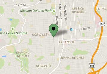 Map Location of Noe Valley